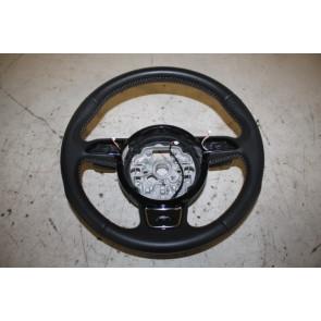 S-line Multifunctiesportstuurwiel leer-geperf zwart/zilver Audi A1, A6, A7 Bj 11-18