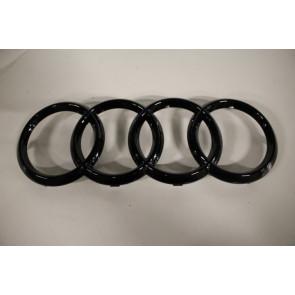 Audi logo zwart-glanzend Audi A6, S6, RS6, A7, S7, RS7, A8, S8, Q2, Q8 Bj 13-heden